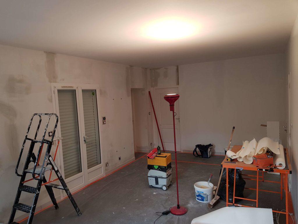 Peinture intérieur et jointoyeur - Pièce avant travaux