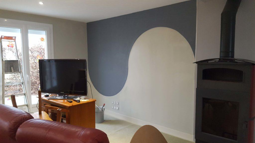 Mur décoratif en toile de verre décorative